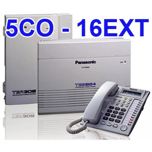 Image result for Tổng Đài Panasonic KX-TES824 (5CO - 16EXT)